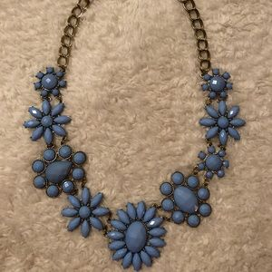 Jewelry - Blue Beaded Statement Necklace